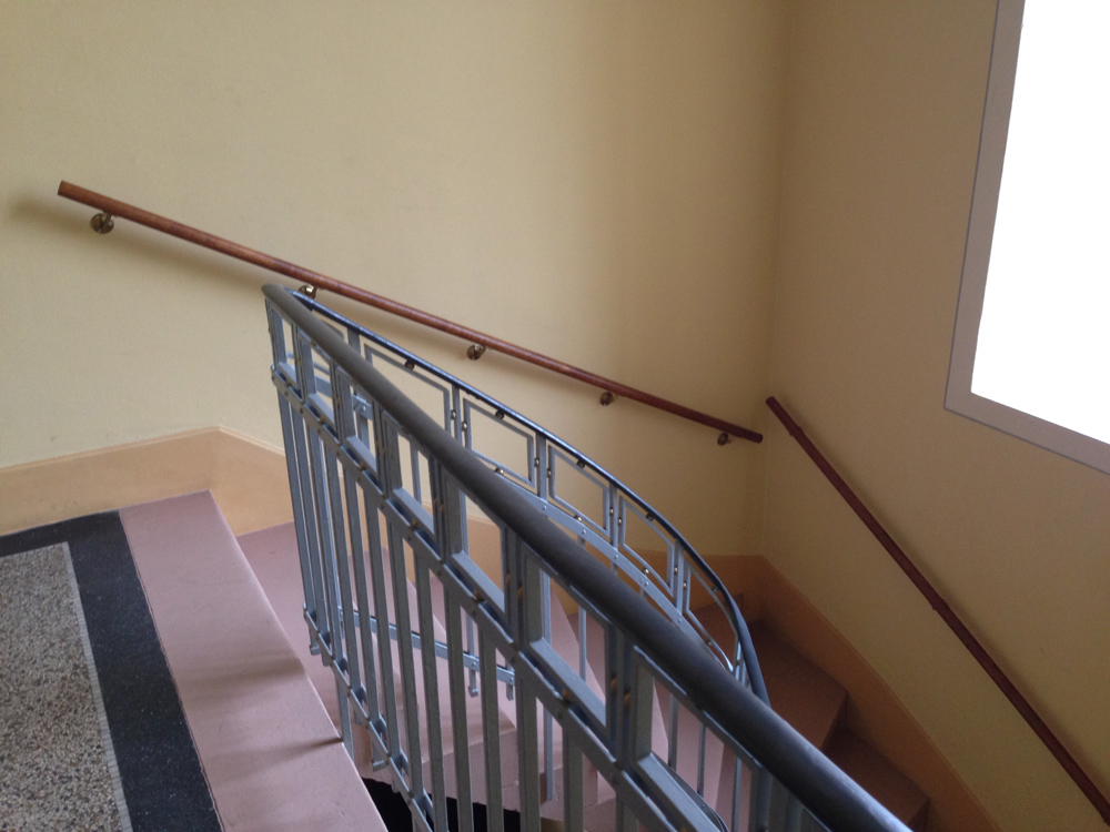 Treppenhaus-Handläufe